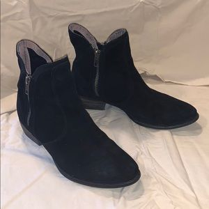 Suede Low Heel Ankle Boots